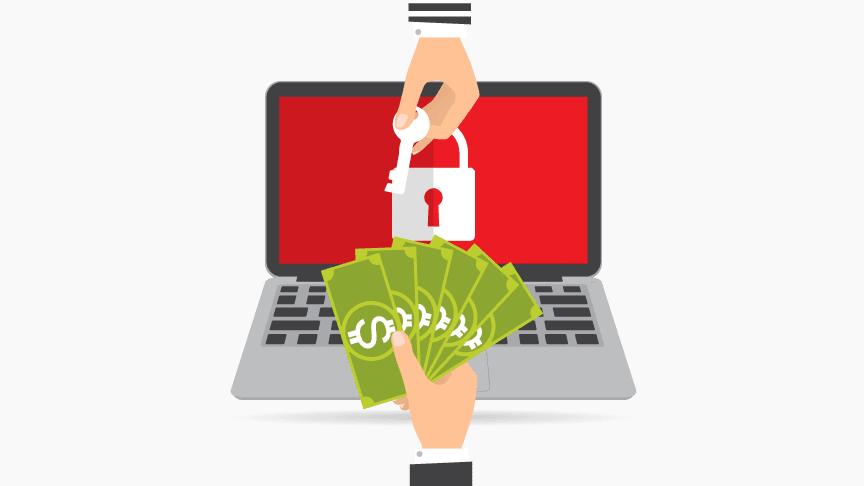 Ransomware concept graphic