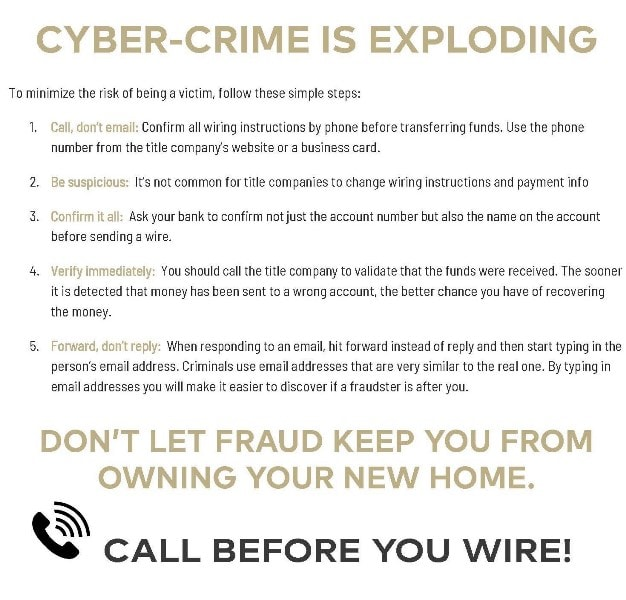 Wire Fraud Precautions Page 2